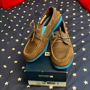 Sperry A/O Gore Brown/Blue top-sided kids 3M